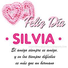Imagen de Feliz Dia Amiga con frase cristiana de amistad y nombre SILVIA