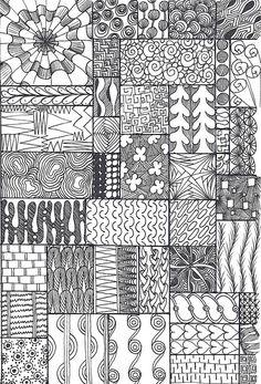 zentangle sampler | by *carolion*