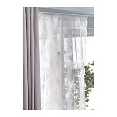 ALVINE SPETS Lace curtains, 1 pair, off-white - IKEA. I want two sets for our bedroom :)