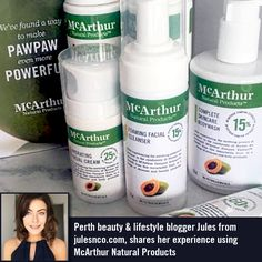 Perth beauty & lifestyle blogger Jules from julesnco.com Jules from julesnco.com, shares her experience using the McArthur Natural Products' Complete Skincare Cream, Complete Skincare Body Wash, Foaming Facial Cleanser, Hydrating Facial Cream, Replenishing Shampoo & Replenishing Conditioner. Read her blog post here: http://www.julesnco.com/posts/2016/11/10/pawpaw-even-more-powerful And follow her on Instagram @jules.n.co #mnp #mcarthurnaturalproducts #pawpaw #perthblogger