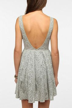ShopStyle: Urban OutfittersPins and Needles Backless Lace Dress