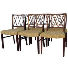 Six Ole Wanscher A J Iverson Danish Modern Rosewood Dining Chairs
