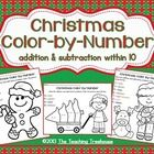 Freebie! Your students will love practicing addition and subtraction facts with these fun color by number worksheets!   Included are 3 color by number printables; addition & subtraction facts within 10.