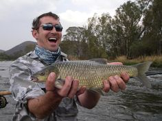 """""""Lee Pace with his first yellowfish. Photo via Fish Whisperer Enterprises, Fly Fishing Guiding Services, South Africa. October — Hehe, Lee the fisherman. This is adorable. Fly Fishing Basics, Lee Pace, Thranduil, Sea Fish, Going Fishing, Most Beautiful Man, The Hobbit, Actors, Image"""