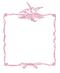 Wedding Graphic - Frames with Doves - The Graphics Fairy