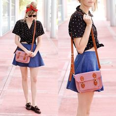 """Florida Almost Spring"" by Steffy K., 26 yr old from Miami, USA. Forever 21 Bag -- This is a cute retro look, but it feels modern at the same time"