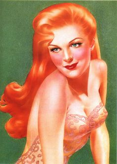 Alberto Vargas red head blushing