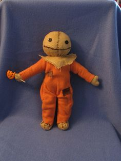 Punkinhead Doll Halloween plush by hayseedbears on Etsy