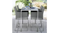 Painted Glass Dune High Dining Table | Crate and Barrel