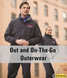 New Outerwear styles are perfect for bringing your brand outdoors. Click the image to see how and where these garments can fit into your life.    http://edwardsgarmentco.blogspot.com/2016/07/out-and-on-go-outerwear.html