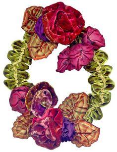 Velvet ribbon wreath