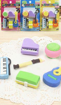 Kawaii Iwako eraser Musical instrument sets