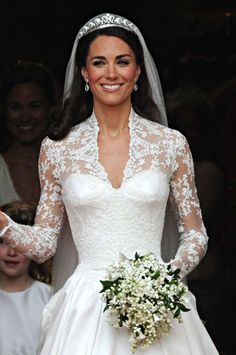 Britain: The Halo Tiara For her 2011 wedding to Prince William, Kate Middleton wore the royal family's famous Cartier Halo tiara. The piece had been a gift from King George to the Queen Mother in 1936, though at that time the couple was known as the Duke and Duchess of York. Owing to its special place in the family history, many British royals have been lucky enough to wear the piece including Princesses Margaret and Anne.