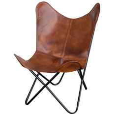 online shopping for Natural Leather Butterfly Chair Brown from top store. See new offer for Natural Leather Butterfly Chair Brown Natural Tan, Natural Leather, Tan Leather, Leather Cover, Green Leather, Poltrona Design, Leather Butterfly Chair, Dark Green Walls, Furniture Deals