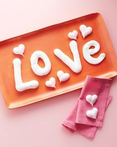 """See the """"Meringue Letters and Hearts"""" in our Valentine's Day Crafts  gallery"""