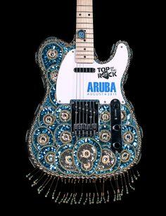 Top of the Rock Guitar Hard Rock Cafe Aruba #hardrock