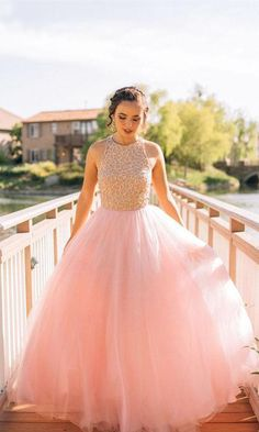 dramatic pink prom party dresses,sparkling prom party dresses, 2017 evening gowns