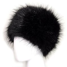 Dikoaina Faux Fur Cossack Russian Style Hat for Ladies Wi...