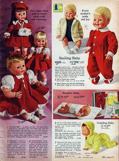 Creepy baby dolls from the Sears catalog