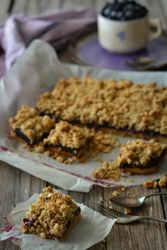 Apple and Blackberry Hazelnut Crumble Squares