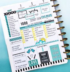Hope you're all having a good week! I thought I'd change things up with a blue ombré background - what do you think? Hobby Lobby has some… happy planner
