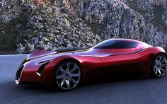 Futuristic Vehicle, Voluptuous Bugatti Concept Super Coupe