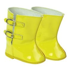 "Amazon.com : 18 Inch Doll Rain Boots Fits American Girls Doll Clothes & More! 18"" Doll Shoes set of Yellow Rain Doll Boots : Fashion Doll Clothing And Shoes : Toys & Games"