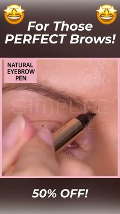 Micro Blading Eyebrow Tattoo Pen - 💛 The easiest way to PERFECT BROWS! 💛 One of the hardest parts in putting makeup is making a - Sparse Eyebrows, How To Color Eyebrows, Natural Eyebrows, Eye Brows, Natural Skin, Natural Makeup, Eyebrow Makeup Tips, Eyebrow Pencil, Skin Makeup