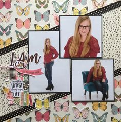 I+Am - Scrapbook.com scrapbook layout Used Simple Stories I Am