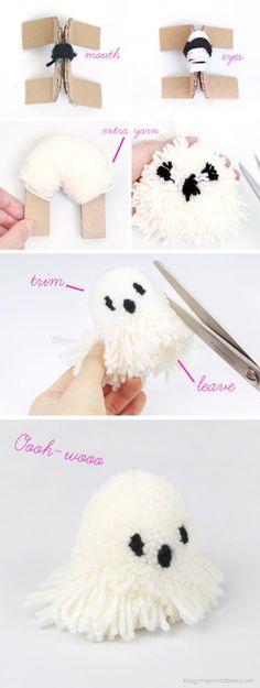 Fabriquer des pompons fantomes