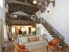 Staircase: Reese Witherspoon's California Home.  LOVE the loft area!!