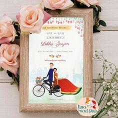 Cute And Trendy E Invitation Designs For The Intimate Weddings E Invite, Invitation Card Design, Digital Invitations, Invitation Cards, E Cards, Intimate Weddings, Save The Date, Doodles, Cute