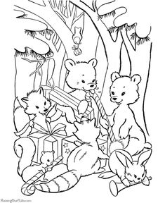 Animal coloring pages - printable and free!