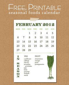The Spotted Sparrow: February Seasonal Food Calendar
