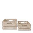 Rattan Gable Waste Paper Baskets S/2 | Citta Design