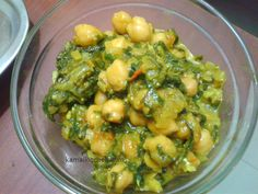 Saag Chole, Chole Palak, Chana Saag is a spicy Indian vegetable dish made with pureed spinach and chickpeas. Great with bread/rice, highly nutritious vegan