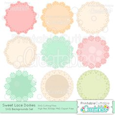 Sweet Lace Doilies SVG Cutting File - Includes Limited Commercial Use License! SVG File, SVG, Cricut Explore, Cricut, Silhouette, Silhouette Cameo, Silhouette Portrait, SVG cuts, Eclips, Cutting Files, Make the Cut, Sure Cuts a Lot, SCaL, and other electronic craft cutting machines for scrapbooking, card making, paper crafting, Print & Cut, and more!