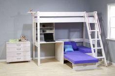 Bunkbed With Futon And Desk Thuka Maxi Maxi White 7 Loft