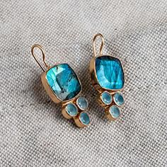 Beautiful blue earrings to compliment any style