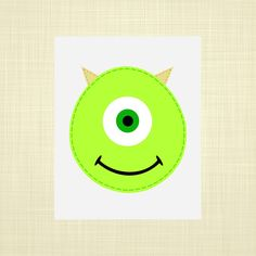 MIKE Monsters Inc inspired Kids art Nursery art by RosyHuesArt