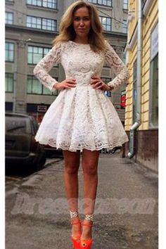 Long Sleeves Lace Homecoming Dresses,Classy Short Prom Dresses,Pretty Homecoming Dress For Teens http://www.luulla.com/product/620170/long-sleeves-lace-homecoming-dresses-classy-short-prom-dresses-pretty-homecoming-dress-for-teens
