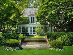 French Provincial Homes Beautiful Backyard