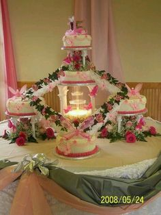 Quinceanera Party Planning – 5 Secrets For Having The Best Mexican Birthday Party Quinceanera Planning, Quinceanera Decorations, Quinceanera Party, Quinceanera Dresses, Cakes For Quinceanera, Beautiful Cakes, Amazing Cakes, Fountain Wedding Cakes, Quince Cakes