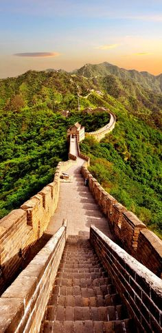 The Great Wall of China The first building on the list of New 7 Wonders of the world is the Great Wall of China, a series of fortifications whose construction was started in seventh century BC in order to provide protection against the Chinese Empire nomadic invasions. It has a length of 8851 km