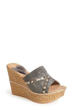Love & Liberty 'Margo' Wedge Slide Sandal (Women) available at #Nordstrom