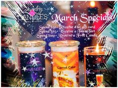 Valid March only, all purchases must be made through my store.  jewelryincandles.com/store/brook_howe