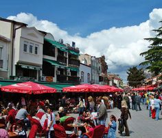 The best old style bars where you can taste the traditional black coffee or tea. - Charshia in Ohrid, Macedonia