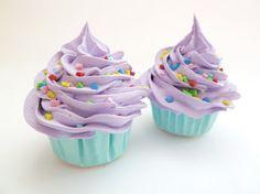 DECORATIVE KNOBS fake cupcake Door knobs set of 2 by shimrita