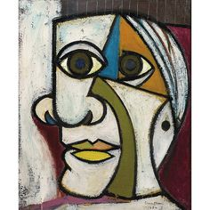 View Portrait de Pablo Picasso by Dora Maar on artnet. Browse upcoming and past auction lots by Dora Maar. Dora Maar, Portraits Cubistes, Picasso Portraits, Cubist Portraits, Picasso Self Portrait, Portrait Paintings, Abstract Portrait Painting, Painting Canvas, Diy Canvas