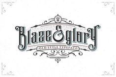 Blaze & Glory Typeface + Extras by Zerowork Studio on @creativemarket